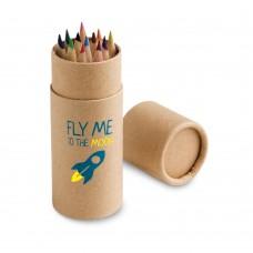"Caixa 12 lápis de cor ""Cylinder"""
