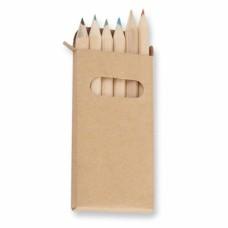 Caixa 6 lápis de cor