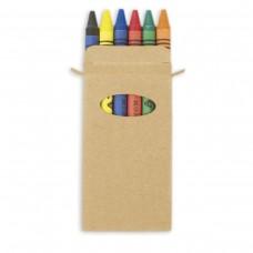 Caixa 6 lápis de cera